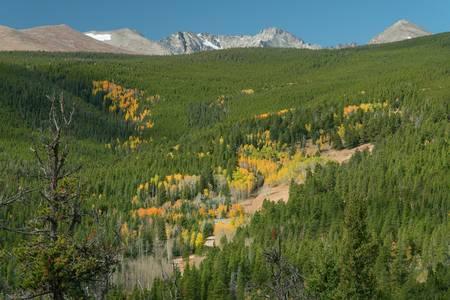 Indian Peaks Autumn Landscape View