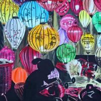 """Hoi An Lanterns"" by evelyncurryart"