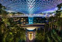 The Jewel at Changi Airport, with the rain vortex