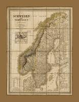 Map of Sweden and Norway (1847)