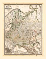 Map of Western Russia (1854)
