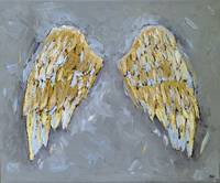 Angel Wings Christmas Home Decor Oil Painting