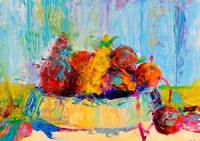 Still Life Food Fruit Print Vegetables Kitchen Art