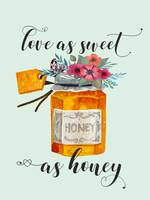 Love as sweet as honey Kitchen Quote