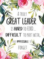 Great Leader Gift Leader Thank you quote