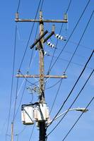 Electrical pole.