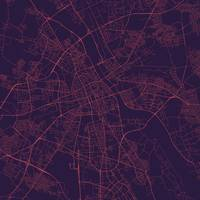 Traffic Warsaw Purple City Map