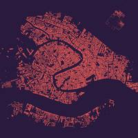 Venice Purple City Map