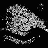 Venice Black City Map