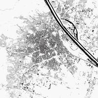 Vienna White City Map