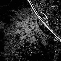 Vienna Black City Map