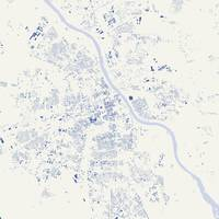 Warsaw Blue City Map