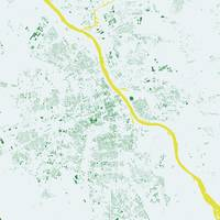 Warsaw Green City Map