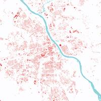 Warsaw Red City Map