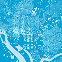 Washingtondc Blue City Map