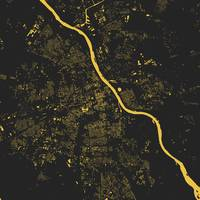 Warsaw Yellow City Map