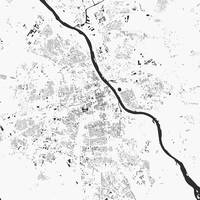 Warsaw White City Map