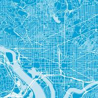 Washingtondc Traffic Blue City Map