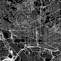 Washingtondc Traffic Black City Map