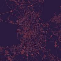 Traffic Saintp Purple City Map