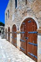 Fortetza: old doors at the Venetian fortress in Re