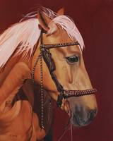 Original oil painting of horse portrait