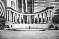 Chicago Millennium Monument in Black and White