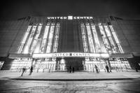 Chicago United Center in Black and White