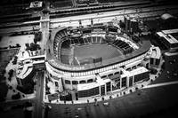Chicago White Sox Park Aerial in Black and White