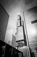 Chicago Willis-Sears Tower in Black and White