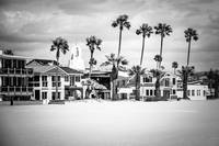 Newport Beach Oceanfront Homes in Black and White
