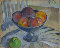 Fruit Dish on a Garden Chair by Paul Gauguin