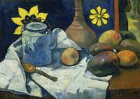 Still Life with Teapot and Fruit by Paul Gauguin