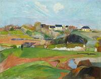 Landscape at Le Pouldu by Paul Gauguin