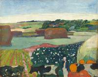Haystacks in Brittany by Paul Gauguin
