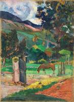 Tahitian Landscape by Paul Gauguin