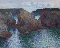 Rocks at Port-Goulphar, Belle-Île by Claude Monet