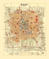 Map of Beijing, China (1914)
