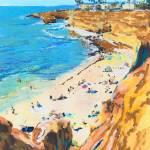 Sunset Cliffs Beach Point Loma San Diego by RD Riccoboni