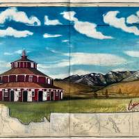 Bayer's Round Barn Art Prints & Posters by Cathryn Reitler (McIntyre)