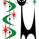 Atomic Cat Christmas Prints & Posters