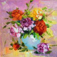 Bouquet roses Art Prints & Posters by OLHA Darchuk