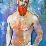 Emerald Bay Man with Red Beard by RD Riccoboni