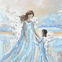 """""""Together with You Always - Angel Painting"""" by ChristineBell"""
