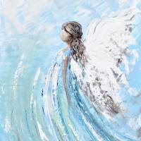 """""""""""Lifted by Grace"""" Angel Painting"""" by ChristineBell"""