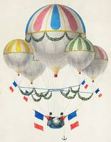 Vintage Illustration of Hot Air Balloons