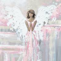 """""""""""Shes With You"""" Angel Painting"""" by ChristineBell"""