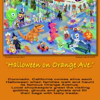 """""""Halloween on Orange Ave Poster"""" by MichaelIves"""