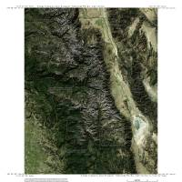 Imagemap of Kings Canyon and Sequoia NP California Art Prints & Posters by Dave Catts