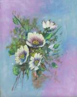 Floral Fine Art Daisies Painting
